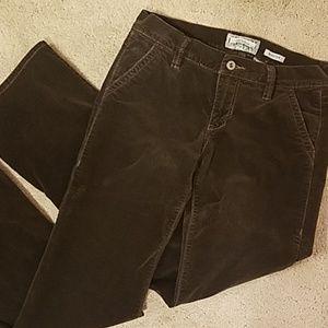 Old Navy Brown Velvety Pants size 4